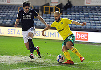 Football - 2020 / 2021 Sky Bet Championship - Millwall vs Norwich City - The Den<br /> <br /> Teemu Pukki of Norwich and Ryan Leonard of Millwall<br /> <br /> COLORSPORT/ANDREW COWIE
