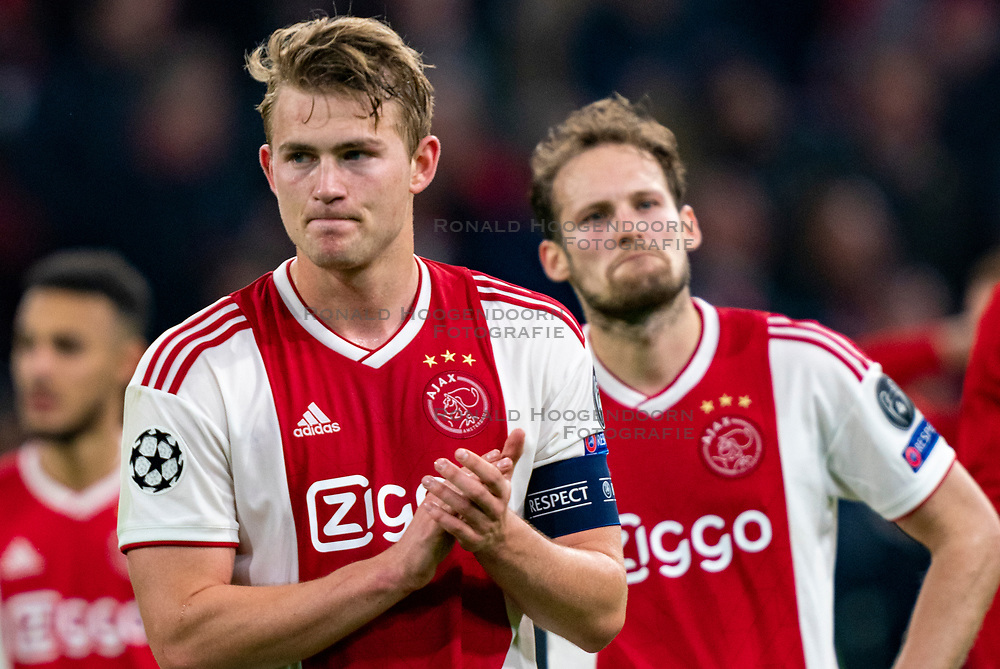 08-05-2019 NED: Semi Final Champions League AFC Ajax - Tottenham Hotspur, Amsterdam<br /> After a dramatic ending, Ajax has not been able to reach the final of the Champions League. In the final second Tottenham Hotspur scored 3-2 / Matthijs de Ligt #4 of Ajax