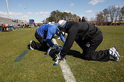 2013 February 17: Charlie Payton #20 of the Duke Blue Devils Duke Blue Devils during a 3-15 win over the Mercer Bears at Koskinen Stadium in Durham, NC.