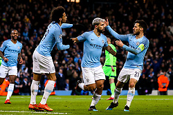 Sergio Aguero of Manchester City celebrates with teammates after scoring a goal to make it 1-0 - Mandatory by-line: Robbie Stephenson/JMP - 12/03/2019 - FOOTBALL - Etihad Stadium - Manchester, England - Manchester City v Schalke - UEFA Champions League, Round of 16, 2nd leg