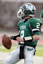 15 November 2014:  Jack Warner during an NCAA division 3 football game between the North Park Vikingsand the Illinois Wesleyan Titans in Tucci Stadium on Wilder Field, Bloomington IL