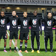 Besiktas's players during their Turkish Super League soccer match Istanbul Basaksehir between Besiktas at the Basaksehir Fatih Terim Arena at Basaksehir in Istanbul Turkey on Sunday, 09 November 2014. Photo by Kurtulus YILMAZ/TURKPIX