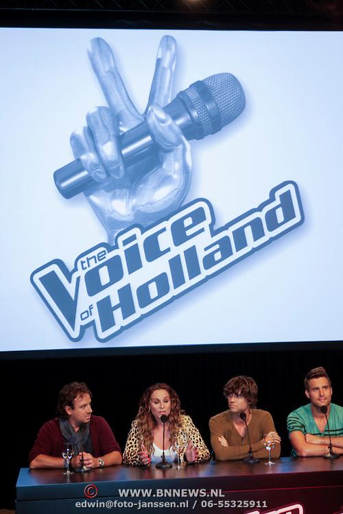 NLD/Hilversum/20120821 - Perspresentatie 3de seizoen The Voice of Holland 2012 / 2013,