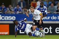 Fotball<br /> Frankrike 2004/05<br /> Strasbourg v Istres<br /> 28. august 2004<br /> Foto: Digitalsport<br /> NORWAY ONLY<br /> FLORIAN MAURICE (IST) / ARTHUR BOKA (STR)