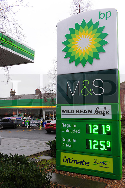 © Licensed to London News Pictures. 06/01/2017<br /> Expensive petrol price at this BP petrol Station St John's Road, Royal Tunbridge Wells, Kent.<br /> Photo credit :Grant Falvey/LNP