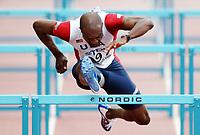 Friidrett<br /> VM 2005 Helsinki<br /> Foto: Dppi/Digitalsport<br /> NORWAY ONLY<br /> <br /> ATHLETICS - IAAF WORLD CHAMPIONSHIPS 2005 - HELSINKI (FIN) - 7/08/2005<br /> <br /> 110M HURDLES - ALLEN JOHNSON (USA)