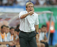 Fotball, 21. juni 2005, Confederations Cup 2005 Argentina - Tyskland,<br /> Juergen Klinsmann Bundestrainer<br /> Norway only