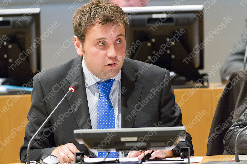 Cllr. Cathal Crowe at the 1st Meeting of the Clare Co Council