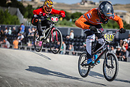 #244 during practice at the 2018 UCI BMX World Championships in Baku, Azerbaijan.
