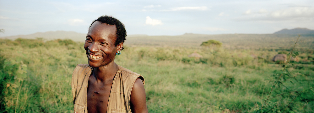 Portrait of a Hamer Tribesman in the Omo Valley, Ethiopia
