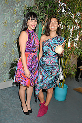 Left to right, MELISSA HEMSLEY and JASMINE HEMSLEY at the launch of Matthew Williamson's 'Sea to Shore' range for The Outnet.com held at the Matthew Williamson's showroom, Studio 10-11, 135 Salusbury Road, London NW6 on 5th May 2016