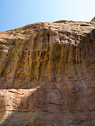Sandstone erosion detail at  Rattlesnake Canyon, Black Ridge Wilderness, Colorado Canyon National Conservation Area, near Grand Junction, Colorado, USA.