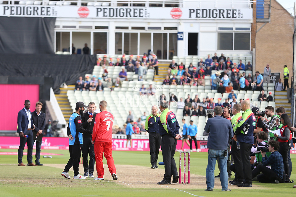 Lancashire win the toss and decide to field during the Vitality T20 Finals Day semi final 2018 match between Worcestershire Rapids and Lancashire Lightning at Edgbaston, Birmingham, United Kingdom on 15 September 2018.