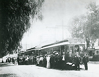 1905 Early street car in Hollywood