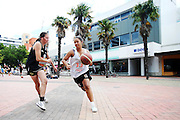 3x3 National Basketball Competition at Garden Place, Hamilton, New Zealand. Saturday 6 December 2014. Photo: Anthony Au-Yeung / www.photosport.co.nz