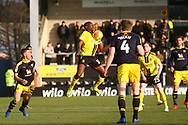 Burton Albion forward Lucas Akins (10) controls the ball during the EFL Sky Bet League 1 match between Burton Albion and Oxford United at the Pirelli Stadium, Burton upon Trent, England on 2 February 2019.