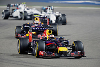 VETTEL Sebastian (Ger) Red Bull Renault Rb10 Action during the 2014 Formula One World Championship, Grand Prix of Bahrain on April 6, 2014 in Sakhir, Bahrain. Photo François Flamand / DPPI