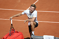 David Goffin of Belgium during practice ahead of the French Open 2021, a Grand Slam tennis tournament at Roland-Garros stadium on May 29, 2021 in Paris, France - Photo Jean Catuffe / ProSportsImages / DPPI
