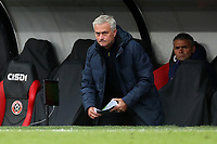 Football - 2019 / 2020 Premier League - Sheffield United vs Tottenham Hotspur<br /> Tottenham Hotspur manager Jose Mourinho shows a look of anger, at Bramall Lane.<br /> <br /> COLORSPORT/PAUL GREENWOOD