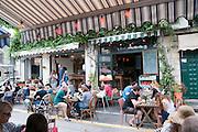Outdoor cafe at Jaffa flea market