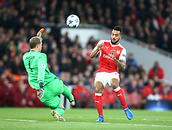 March 7, 2017 - London, England, England - Arsenal's Theo Walcott and Manuel Neuer of FC Bayern Munich during UEFA Champions League - Round 16 - 2nd Leg match between Arsenal and Bayern Munich at The Emirates , London 07 Mar 2017  (Credit Image: © Kieran Galvin/NurPhoto via ZUMA Press)