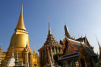 Wat Phra Kaew,  Temple of the Emerald Buddha, or by its full official name Wat Phra Sri Rattana Satsadaram is considered to be the most sacred Buddhist temple in Thailand. It is located in the historic center of Bangkok within the grounds of the Grand Palace.