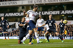 Federico Fazio of Tottenham Hotspur shoots - Photo mandatory by-line: Rogan Thomson/JMP - 07966 386802 - 30/11/2014 - SPORT - FOOTBALL - London, England - White Hart Lane - Tottenham Hotspur v Everton - Barclays Premier League.