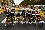 Team Sky poses for the photo during the 105th Tour de France 2018, Stage 21, Houilles - Paris Champs-Elysees (115 km) on July 29th, 2018 - Photo Luca Bettini / BettiniPhoto / ProSportsImages / DPPI