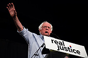 """Senator Bernie Sanders made an speech at Justice Reform """"How to make change"""" on June 2nd, 2018 at Million Dollar Theater in Downtown Los Angeles, California. (Photo by Yuki Iwamura)"""