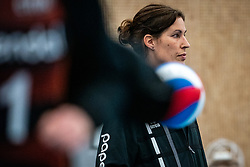 Ass coach Francien Huurman of Talent Team in action as coach during the league match Talentteam Papendal vs.  Eurosped on January 23, 2021 in Ede.