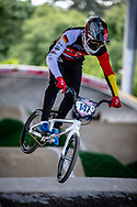#147 (BALLBACH Jonas) GER at Round 5 of the 2019 UCI BMX Supercross World Cup in Saint-Quentin-En-Yvelines, France