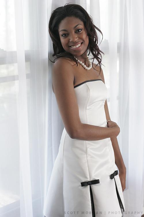 Fashion student Katrese Kirk