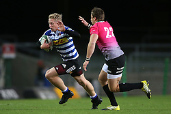 Scott van Breda of Western Province attempts to get past Tyler Fisher of the Pumas during the Currie Cup Premier Division match between the DHL Western Province and the Pumas held at the DHL Newlands rugby stadium in Cape Town, South Africa on the 17th September  2016<br /> <br /> Photo by: Shaun Roy / RealTime Images