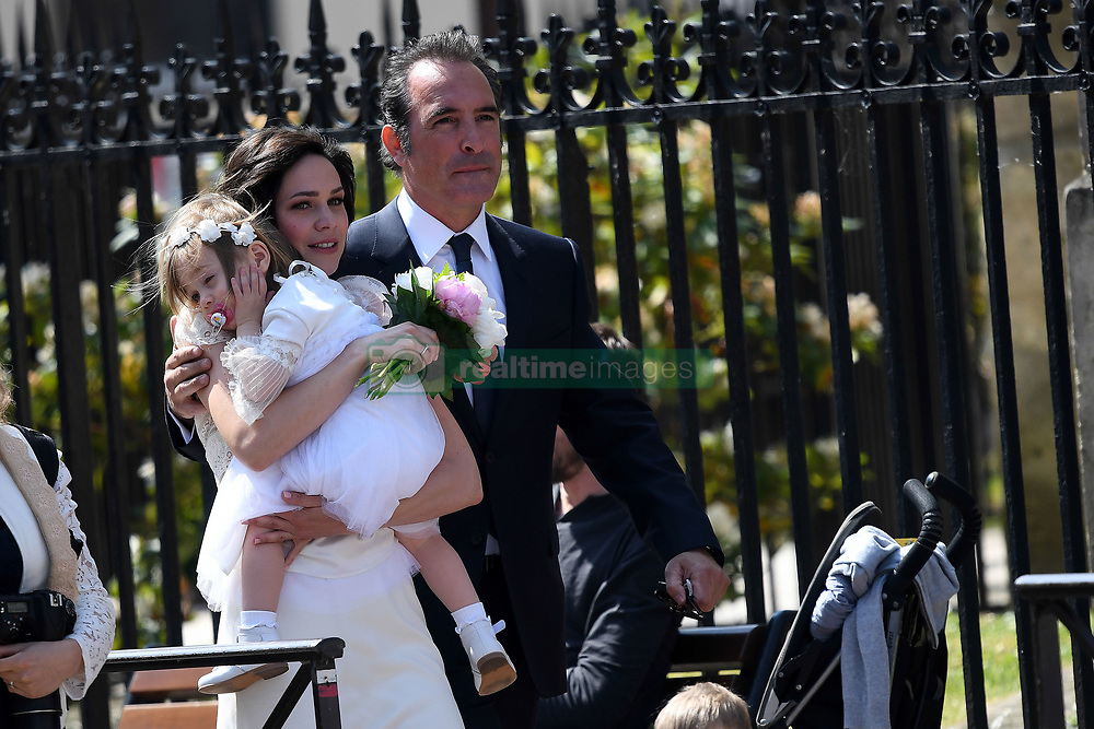 Oscar winning French actor Jean Dujardin get married with ice skater Nathalie Pechalat at Saint Cloud City Hall, near Paris, France on May 19, 2018. NO CREDIT a3