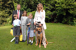 WILLIAM & LUCY ASPREY with their children, left to right, TOM, EMILY and ANNABEL and their dog Rufus at Macmillan Dog Day in aid of Macmillan Cancer Support, held at Royal Hospital Chelsea, London on 3rd July 2007.<br />