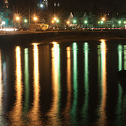 Reflections in Gloucester Harbor.