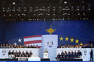 Team USA and team Europe during the Opening Ceremony of Ryder Cup 2018, at Golf National in Saint-Quentin-en-Yvelines, France, September 27, 2018 - Photo Philippe Millereau / KMSP / ProSportsImages / DPPI