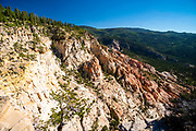 View from Hells Backbone Road, near Escalante and Boulder, Garfield County, Utah, USA, on a beautiful summer day.