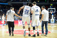 Real Madrid's player Trey Thompkins injured during match of Turkish Airlines Euroleague at Barclaycard Center in Madrid. November 16, Spain. 2016. (ALTERPHOTOS/BorjaB.Hojas)