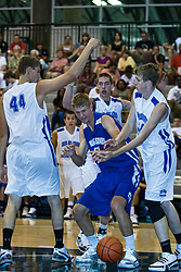 23 June 2012: Aaron Larson.  Illinois Basketball Coaches Association (IBCA) All Star game at Shirk Center, Illinois Wesleyan, Bloomington, IL