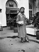 1954 - Model wearing Leather coat from Greenwich Leathercloth at the Gresham Hotel