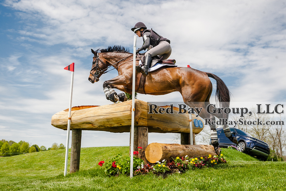 Erin Sylvester (USA) and Paddy The Caddy during the cross-country at the 2019 Land Rover Kentucky Three-Day Event presented by MARS EQUESTRIAN in Lexington, Kentucky