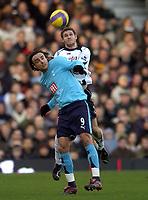 Photo: Olly Greenwood.<br />Fulham v Tottenham Hotspur. The Barclays Premiership. 20/01/2007. Tottenham's Dimitar Berbatov and Fulham's Moritz Volz