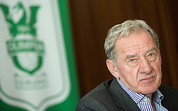 Milan Mandaric, president of Olimpija during presentation of a new head coach Mr. R. Vanoli of NK Olimpija, on April 22, 2016 in Austria Trend Hotel, Ljubljana, Slovenia. Photo by Vid Ponikvar / Sportida