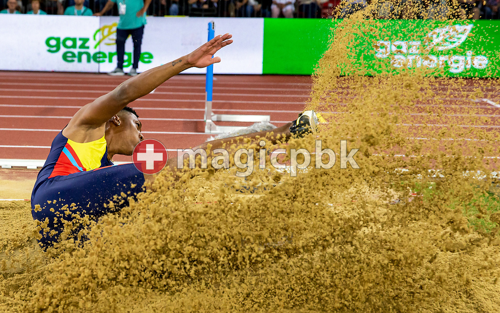Juan Miguel ECHEVARRIA of Cuba competes in the Men's Long Jump during the Iaaf Diamond League meeting (Weltklasse Zuerich) at the Letzigrund Stadium in Zurich, Switzerland, Thursday, Aug. 29, 2019. (Photo by Patrick B. Kraemer / MAGICPBK)