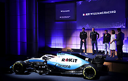 Unveiling of the new livery FW42 with drivers George Russell and Robert Kubica during the Williams 2019 livery launch at Williams Conference Centre, Grove.