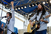 The Avett Brothers and the Dap Kings at the Newport Folk Festival 2010