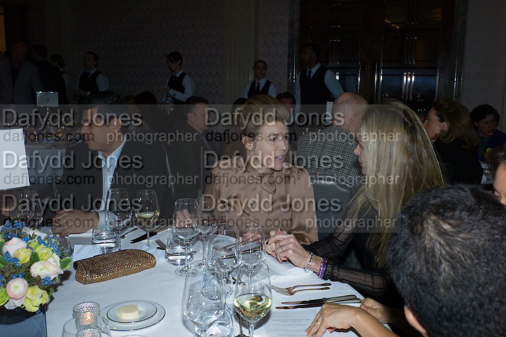 AMBER NUTTALL, Anish Kapoor and Lee Ufan preview dinner hosted by the Lisson Gallery after the opening on Bell St. The Connaught. London. 23 March 2015