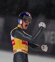 06.01.2013, Paul Ausserleitner Schanze, Bischofshofen, AUT, FIS Ski Sprung Weltcup, 61. Vierschanzentournee, Bewerb, im Bild Gesamtsieger Gregor Schlierenzauer (AUT) jubelt // Overall Winner Gregor Schlierenzauer of Austria celebrates during Competition of 61th Four Hills Tournament of FIS Ski Jumping World Cup at the Paul Ausserleitner Schanze, Bischofshofen, Austria on 2013/01/06. EXPA Pictures © 2012, PhotoCredit: EXPA/ Juergen Feichter