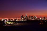 Skyline from Elysian Park at Sunset (3)